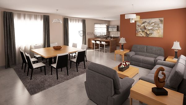 residencial 3d renders de arquitectura